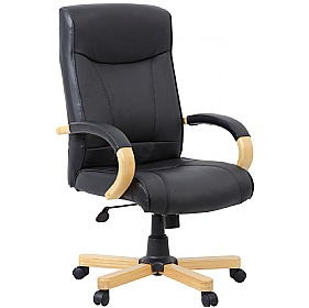 Farnham Executive Black Leather Manager Chair £112 - Office Chairs