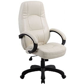 Monza Executive Office Chair Cream £80 - Office Chairs