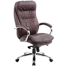 Siena Leather Executive Office Chair Brown £155 - Office Chairs