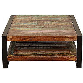 Accrington Reclaimed Wood Square Coffee Table Accrington Solid
