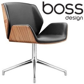 Boss Design Kruze 4 Star Swivel Chair With Wood Veneer £587 - Office Chairs