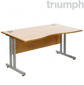 Triumph Everyday Essential Height Adjustable Double Wave Desks £225 - Office Desks