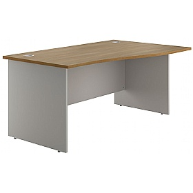 NEXT DAY Flare Panel End Wave Desks £151 - Next Day Office Furniture