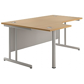 NEXT DAY Merge Ergonomic Cantilever Desks £195 - Next Day Office Furniture