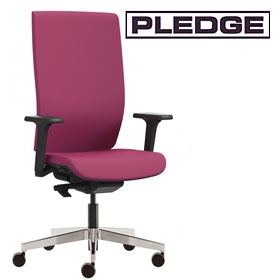 Pledge Kind Full Back Executive Chair With Height Adjustable Arms £387 - Office Chairs