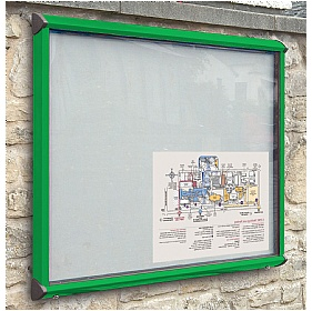 Coloured Frame Exterior Shield Showcases £179 - Display/Presentation