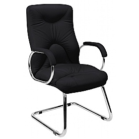 Elf Leather Faced Visitor Chairs £208 - Office Chairs