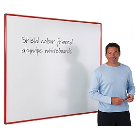 Coloured Frame Shield Whiteboard £47 - Display/Presentation