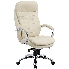 Siena Leather Executive Office Chair Cream £155 - Office Chairs