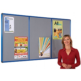 Shield� Resist-A-Flame Coloured Frame Multibank Noticeboards £126 - Display/Presentation