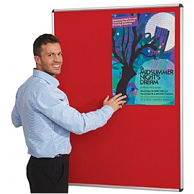 Resist-a-Flame Aluminium Framed Shield Noticeboard £57 - Display/Presentation