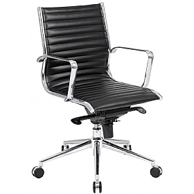 Abbey Medium Back Leather Office Chairs £127 - Office Chairs