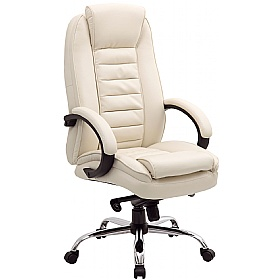 Lucca Cream Executive Leather Office Chairs £129 - Office Chairs