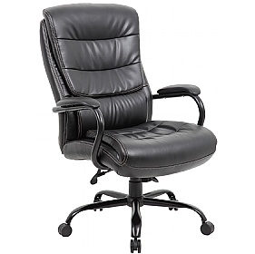 Citadel 27 Stone Heavy Duty 24 Hour Leather Faced Manager Chair £174 - Office Chairs