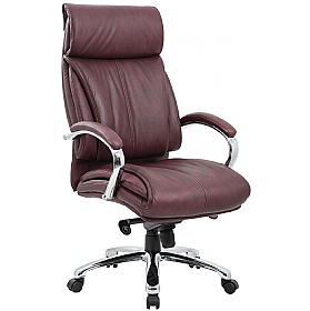 Savona Top Leather Executive Office Chair Brown £159 - Office Chairs