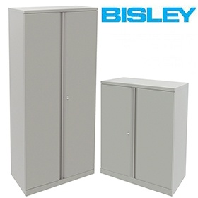 Bisley Steel Two Door Cupboards £220 - Office Cupboards