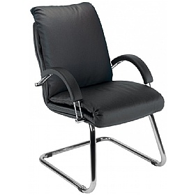 Nadir Leather Faced Visitor Chair £174 - Office Chairs