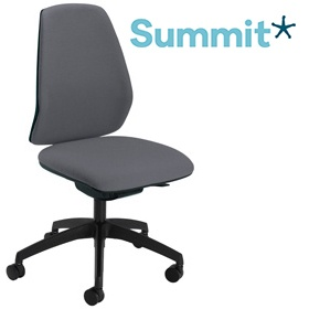 Summit Mono Black Upholstered Back Task Chair £256 -