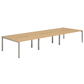 NEXT DAY InterAct Sliding Top Back to Back 6 Person Bench Desks