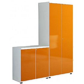 Oxide High Gloss Double Door Office Cupboards £505 - Office Cupboards