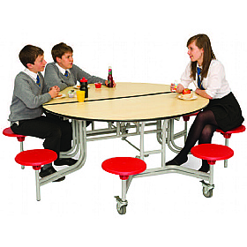 8 Seat Classic Circular Mobile Dining Unit £0 - Education Furniture