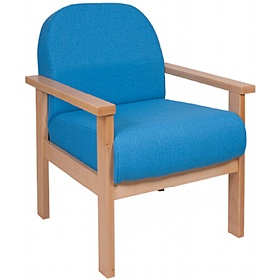 Deluxe Solid Beech Wooden Reception Armchair £204 - Reception Furniture