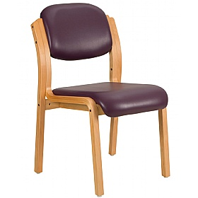 Titan Lexaire Vinyl Wooden Framed Side Chair (Pack of 2) £129 - Reception Furniture