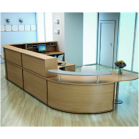 Bodum II Reception Desks £269 - Reception Furniture