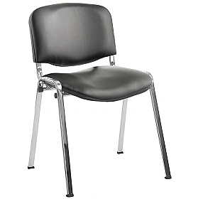 ISO Sierra Vinyl Conference Chairs Chrome Frame £53 - Office Chairs