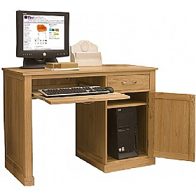 Cherry Wood Corner Desk Stand Up Desk Platform