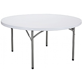 Atlantic Round Poly Folding Tables £0 -