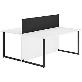 Sensational Next Day Concept Hoop Leg Back To Back Office Desks With Screens Home Interior And Landscaping Pimpapssignezvosmurscom