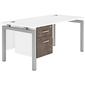 NEXT DAY Concept Bench Rectangular Office Desks With Single Fixed Pedestal £340 -