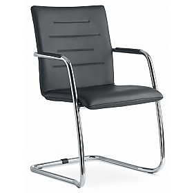Stream Leather Cantilever Conference Chair £252 - Office Chairs