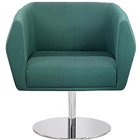 Sven HB1D Disc Base Fabric Reception Chairs £520 - Reception Furniture