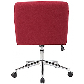 Harris Fabric Swivel Chair supplied with Castors and Glides