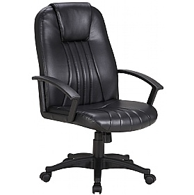 Pacific Leather Faced Manager Chair £69   Office Chairs