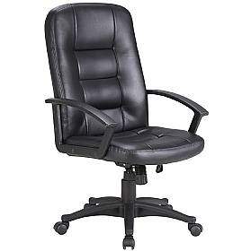 Preston Leather Faced Manager Chair £70 - Office Chairs