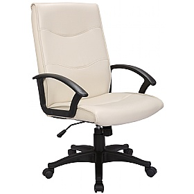 Farnborough Leather Faced Manager Chairs £72 - Office Chairs