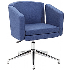 Jura Fabric Swivel Chair supplied with Castors and Glides