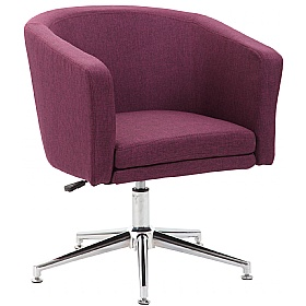Lewis Fabric Swivel Chair supplied with Castors and Glides