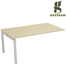 Gresham Bench² Straight Leg Fixed Top Rectangular Add On Desks £262 - Office Desks