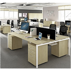 NEXT DAY Force Classic 8 Person Bench Desk