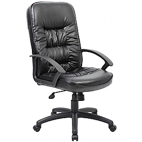 Cadiz Leather Faced Manager Chair £82 -
