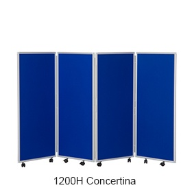 Concertina 4 Panel Mobile Display & Room Dividers £274 -