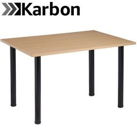 NEXT DAY Karbon Tubular Leg Rectangular Office Tables £82 -