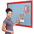 Resist-a-Flame Coloured Frame Sliding Door Shield Showcase