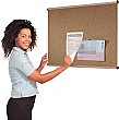 Aluminium Frame Cork Shield Noticeboards