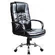 Turin Chrome Leather Manager Chair
