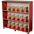 Childrens Bookcase With Drywipe Board Red